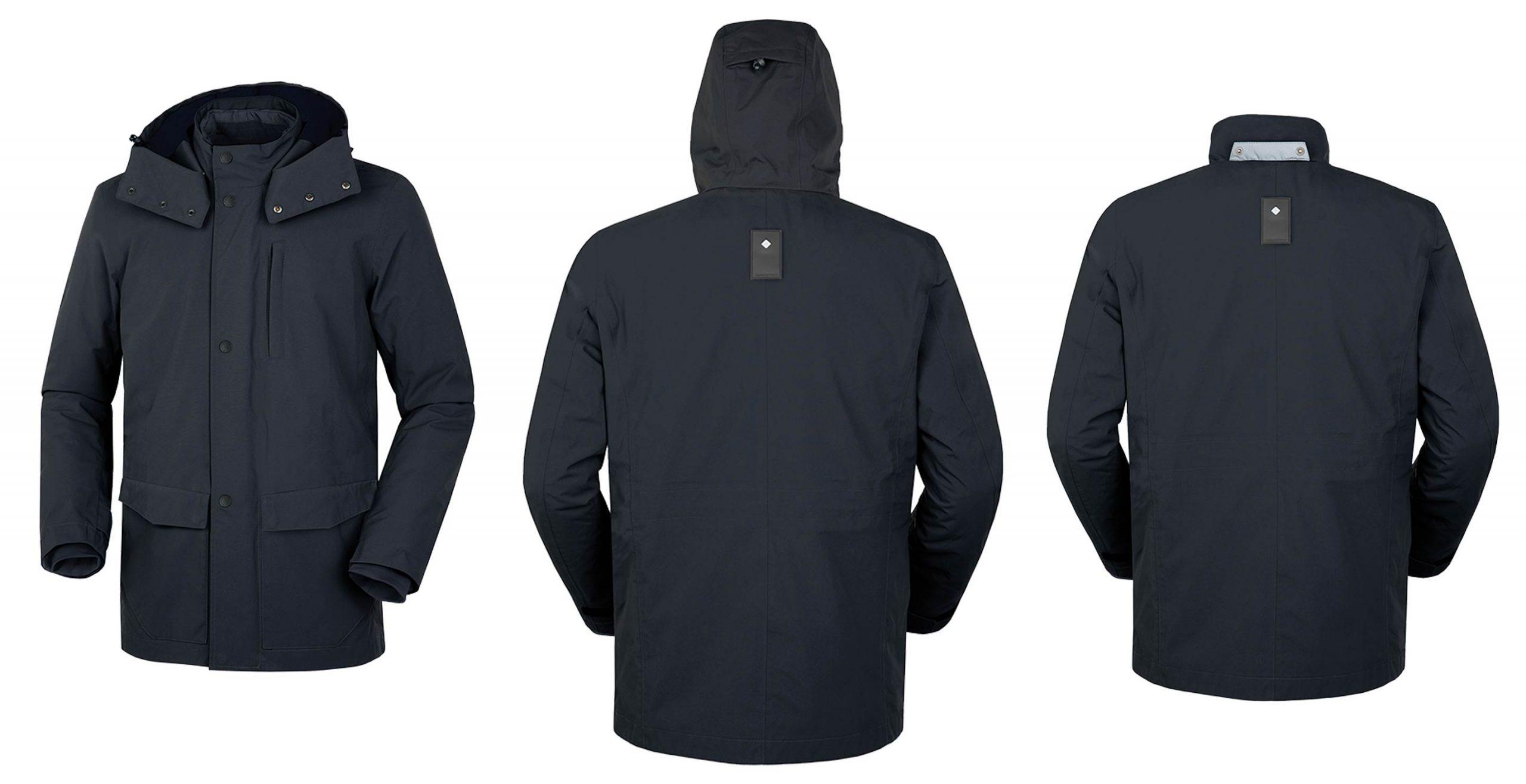 Distintas perspectivas de la chaqueta Brera de Tucano Urbano