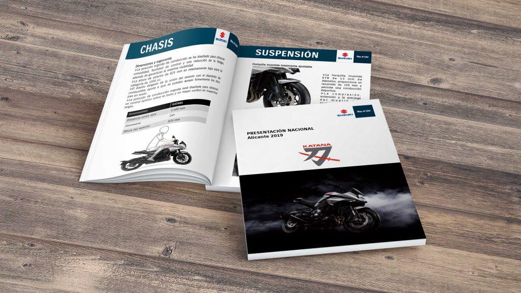 Dossier de prensa de la presentación nacional de la Suzuki Katana
