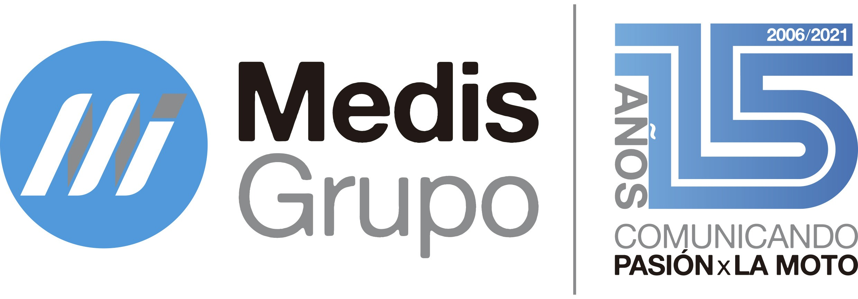 Logotipo completo 15 aniversario Medis Grupo